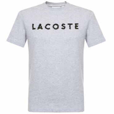 Lacoste TH1895 Logo T-Shirt Light Grey Marl CCA