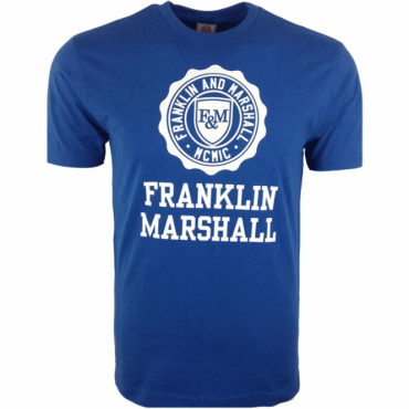 Franklin & Marshall Big Logo T-Shirt Olympic Blue