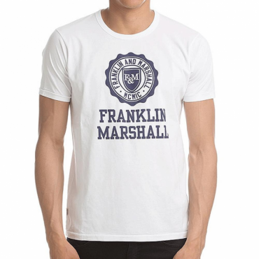 Franklin & Marshall Big Logo T-Shirt White