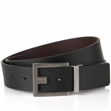 HUGO by Hugo Boss C-Fleming Black Brown Reversible Leather Belt 50307788