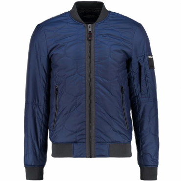 Replay Navy Blue Quilted Bomber Jacket M8811