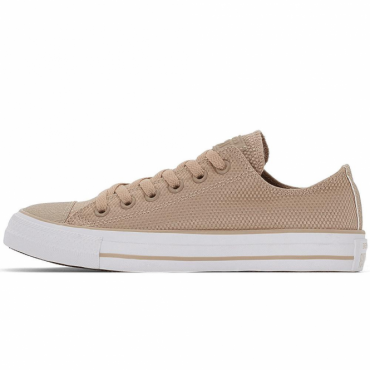 Converse All Star Ox Khaki Beige Nylon Weave Trainers 155419C
