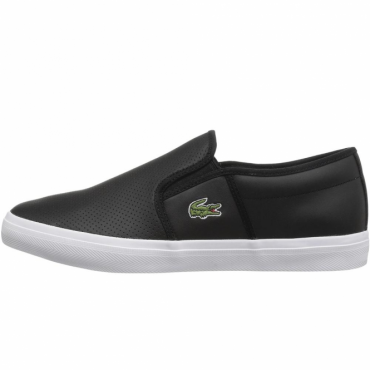 Lacoste Gazon BL Black Slip-On Plimsole Trainers