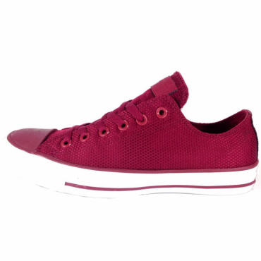 Converse All Star Ox Rhubarb Burgundy Nylon Weave Trainers 155420C