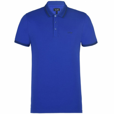 Armani Jeans Royal Blue Stretch Short Sleeve Polo T-Shirt 8N6F2B 6JPTZ