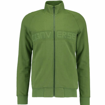 Converse Mesh Rib Track Zip-Up Sweatshirt Fatigue Green 10003432