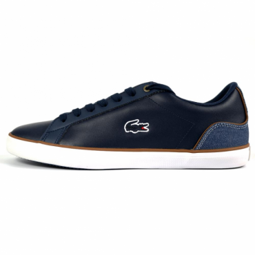 Lacoste Lerond 317 Navy Leather Trainers