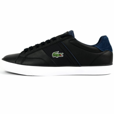 Lacoste Fairlead 317 Black Leather Trainers