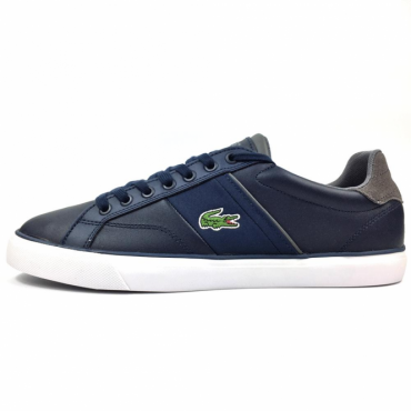 Lacoste Fairlead 317 Navy Blue Leather Trainers