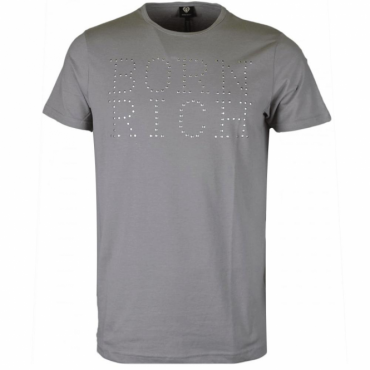 Born Rich Ribery Light Grey Logo T-Shirt