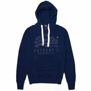 Superdry Vintage Authentic Tonal Hoody Nautical Navy 09S