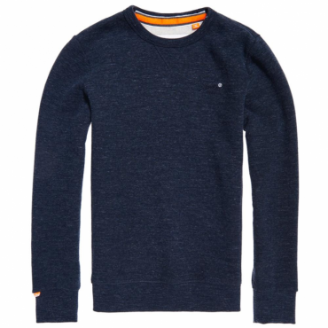 Superdry Orange Label Crew Neck Sweat Ravine Blue Grit EK4