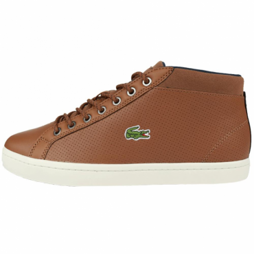 Lacoste Straightset SP Chukka Tan Brown Leather Trainer Boots