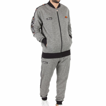 Ellesse Joyner Grey Marl Zip Up Tracksuit