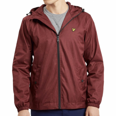 Lyle & Scott Claret Marl Zip Up Hooded Jacket JK512V
