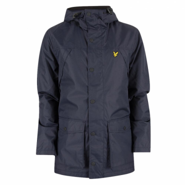 Lyle & Scott Navy Micro Fleece Lined Zip Up Hooded Jacket JK710V