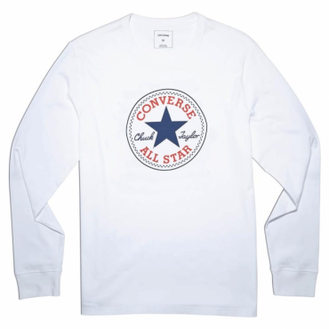 Converse All Star Big Logo Long Sleeve Cuffed T-Shirt White 10004863