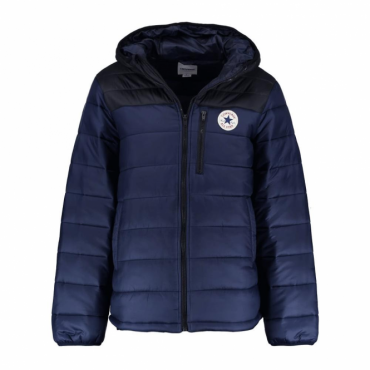 Converse Core Navy Blue Zip Up Puffer Jacket 10004605