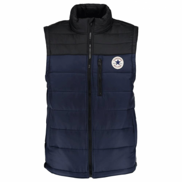 Converse Core Navy Blue Zip Up Puffer Gilet 10004604