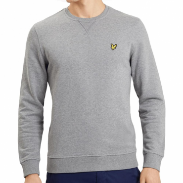 Lyle & Scott Mid Grey Marl Crew Neck Sweatshirt ML424VB