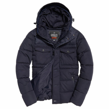 Superdry Tech Tweed Jacket Navy 11S