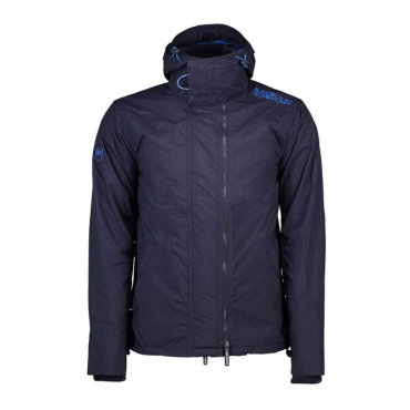 Superdry Pop Zip Hood Arctic Windcheater Deep Marine Navy EY0