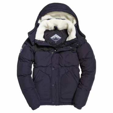 Superdry SD Expedition Puffer Coat Navy Blue 11S