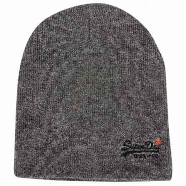 Superdry Orange Label Basic Beanie Hat Steel Grey Twist USC