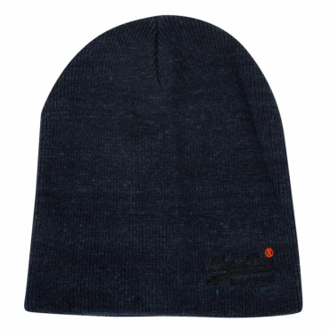 Superdry Orange Label Basic Beanie Hat Navy LU7