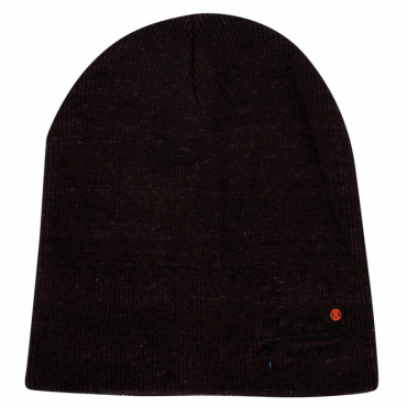 Superdry Orange Label Basic Beanie Hat Black 02A