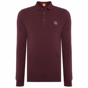 Boss Orange Paulyn Long Sleeved Polo Burgundy 640 50373360