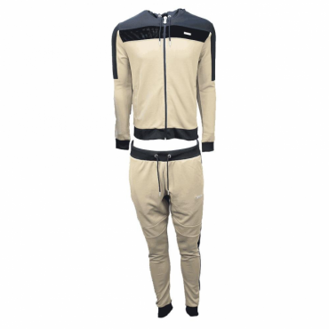 Foray Invictus Nomad Sand Black Zip Up Hoody Tracksuit
