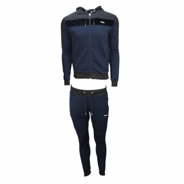 Foray Invictus Navy Black Zip Up Hoody Tracksuit
