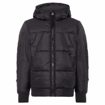 G-Star Whistler HDD Bomber Quilted Hooded Jacket Black D05991