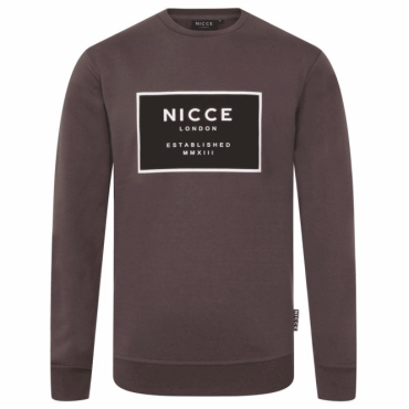 NICCE Est-13 Crew Neck Sweatshirt Charcoal Grey M01SW06