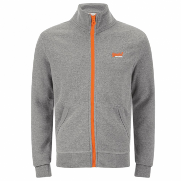 Superdry Orange Label Flash Track Top Grey Grit EP8