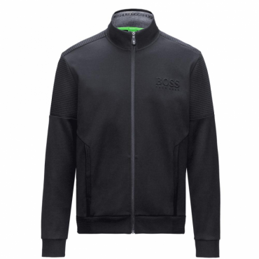 Boss Green Skaz Black Zip Up Sweatshirt Jacket 50333986