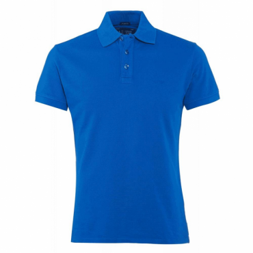Armani Jeans Royal Blue Short Sleeve Polo T-Shirt 8N6F12