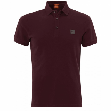 Boss Orange Pavlik Pique Polo Burgundy 611 50326320