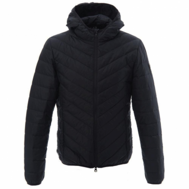 Emporio Armani EA7 Ultra-Light Down Hooded Jacket Black 8NPB09 PNE1Z