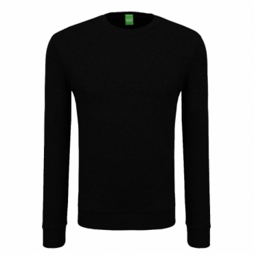 Boss Green Salbo 1 Black 001 Crew Neck Sweatshirt 50373714