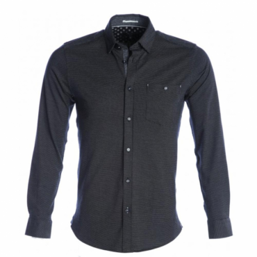 Ted Baker Maxxb L/Sleeve Knitted Style Shirt Navy