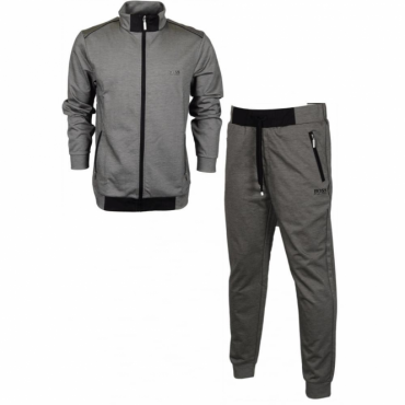 Hugo Boss Zip Up Tracksuit Grey Black 001 50372059