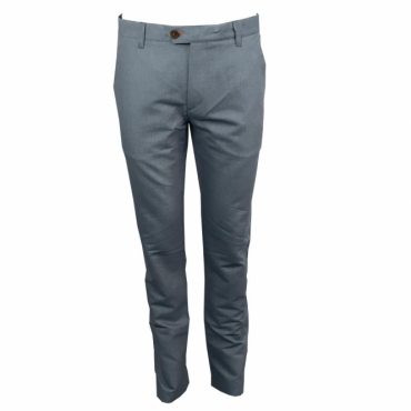 Ted Baker Twiltwo Slim Fit Cotton Twill Trousers Light Blue