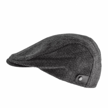 Ted Baker Thompsn Charcoal Grey Textured Flat Cap