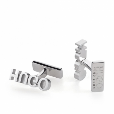 Hugo Boss E-Reverse Logo Polished Metal Cufflinks 50378960