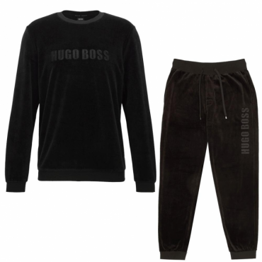 Hugo Boss Black Velor Crew Neck Tracksuit 50378251
