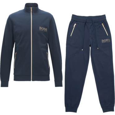 Hugo Boss Zip Up Tracksuit Navy Blue 50378254