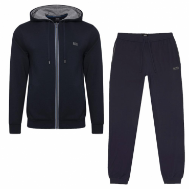 Hugo Boss Jacket Hooded Zip Up Tracksuit Navy Blue 50378271