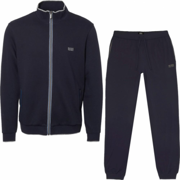 Hugo Boss Jacket Zip Up Tracksuit Navy Blue 50378252